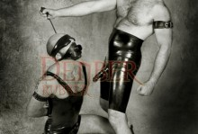 X169 Blindfold / X422A Hollow Gag / 117 Corset / 302 Mask
