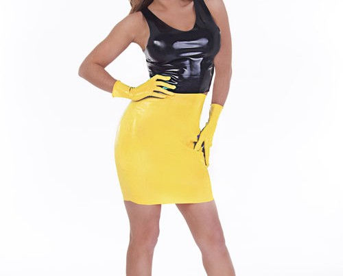 Mini Skirt Code 184 In Yellow
